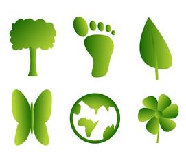 Green nature elements