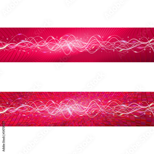 "Flying wave backgrounds. The red version. Variant ""A"". EPS-10"