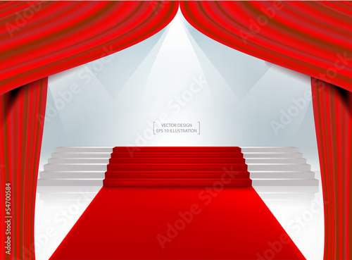 Red theater curtain.