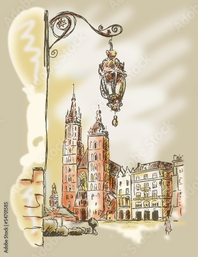 Fototapeta Krakau Rynek