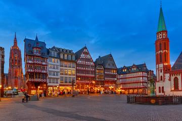 Historic Center of Frankfurt at night