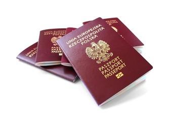 european union passports isolated on white