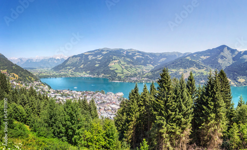 View over Zell am See, Austria