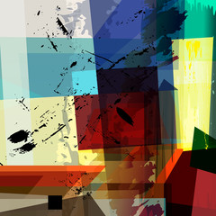 abstract colorful background composition, with strokes, splashes