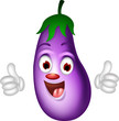 cartoon eggplant giving thumbs up