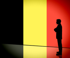 Belgian Businessman Thinking