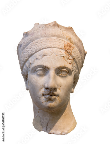 Empress Plautina head, wife of Roman Emperor Trajan (120-130 AD)