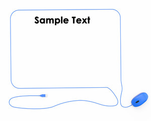 mouse cord as a cloud for text concept