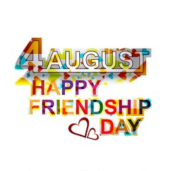 Creative Happy Friendship day stylish text colorful vector