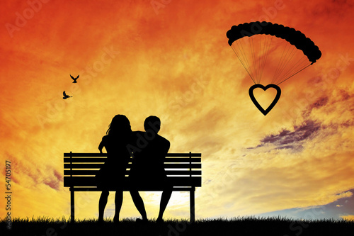 couple in love abstract illustration