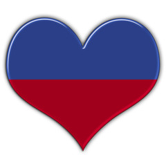 Heart with flag of Liechtenstein
