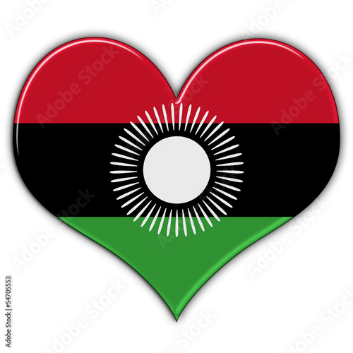 Heart with flag of Malawi