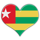 Heart with flag of Togo