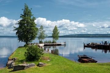 Summer morning at Lake Siljan in Sweden