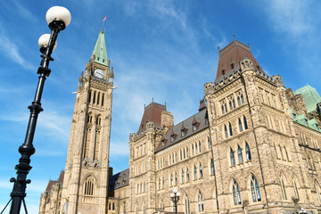 Canadian Parliament buildings in Ottawa, Canada
