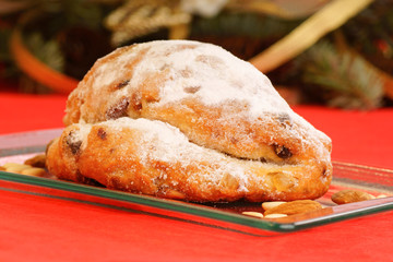 Christmas stollen the german fruit cake