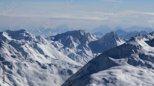 distant mountain ridge Tirol Austria