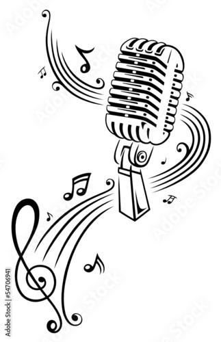 Musik, Musiknoten, Noten, Notenschlüssel, micro