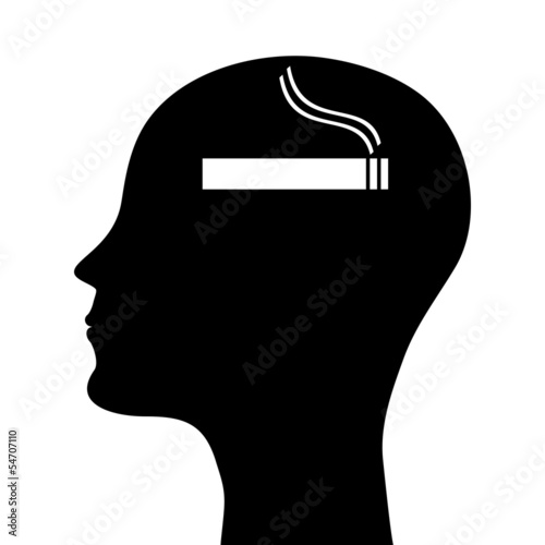 head silhouette smoker