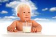 Baby and milk.