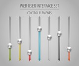 Web User Interface Set - Sliders
