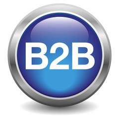 B2B glossy icon blue