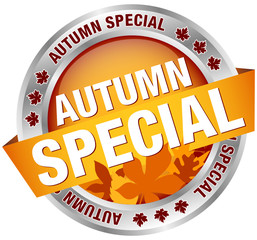 """Button Banner """"Autumn Special"""" Leafs/Silver"""