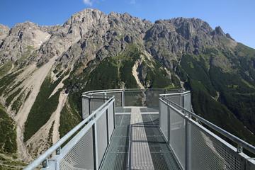 Aussichtsplattform am Plattein. Tirol. Österreich