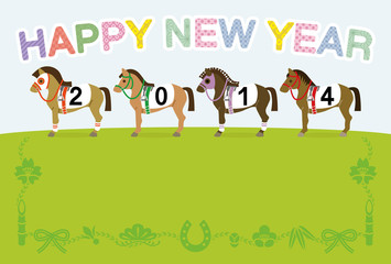 Racehorse,2014,Japanese New Year's card Design