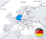 Germany on map of Europe