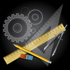 Drawing tools. Vector illustration