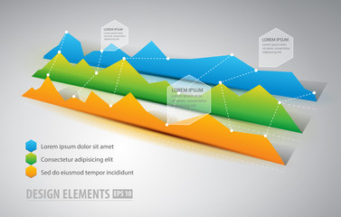 Graphic infographic elements