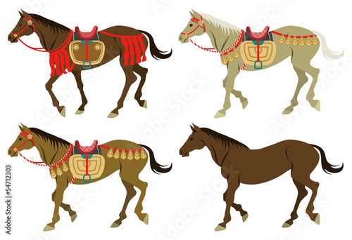 Four types walking horses
