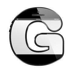 conceptual modern art design of the alphabet letter G