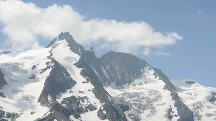 time lapse of Grossglockner peak clouds