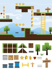 illustrations platform for game