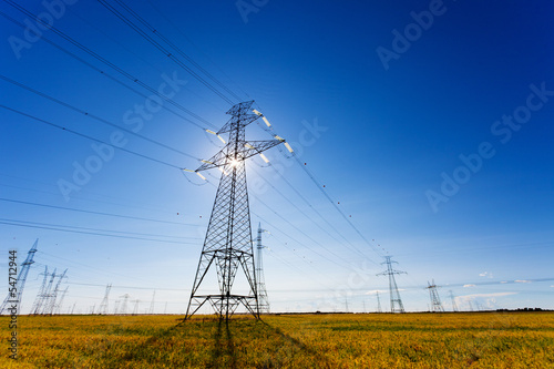 High Voltage Power Lines Backlight