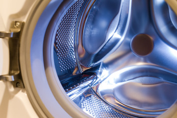 Inside a washing machine