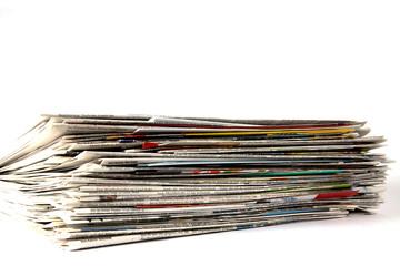Zeitungen mit Werbeprospekten