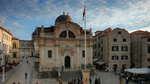 Dubrovnik old town panorama with tourist in city
