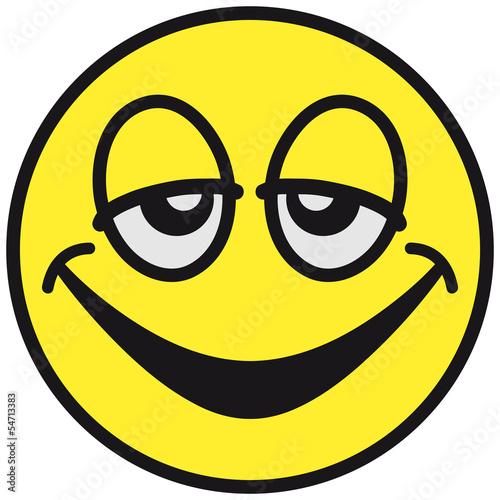 Leinwandbild Motiv Happy Tired Smiley