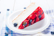 Diet light dessert with fresh fruits and jelly