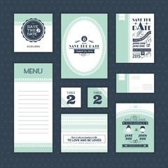 Set of vintage wedding cards