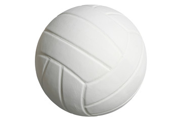 Volleyball isolated on a white background with clipping path