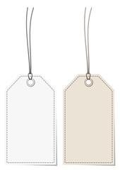 2 Label White/Beige Stitching