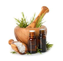 Rosemary oil and salt