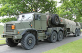 A Heavy Duty Military Army Fuel Tanker.