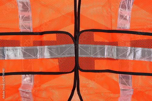 Safety Vest Front up Close