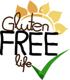 Gluten free life. Hand drawn unique design.