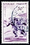 Postage stamp France 1956 Rugby, Team Sport poster